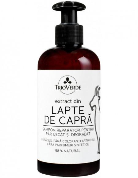 Șampon reparator cu extract din Lapte de Capră 250ml - Trio Verde