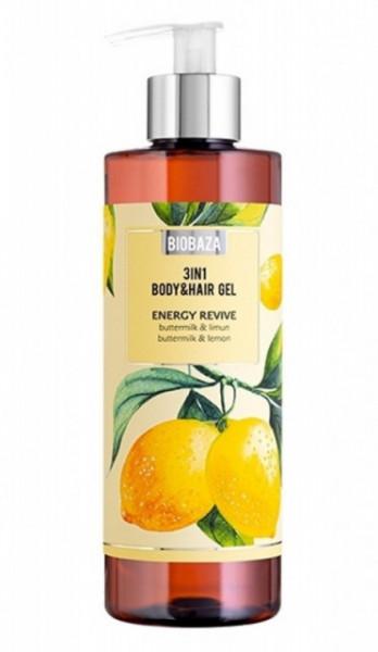 Sampon si gel de dus natural Buttermilk & Lemon, 400ml - BIOBAZA