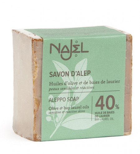 Sapun traditional de Alep cu 40% ulei de dafin, 185g - NAJEL
