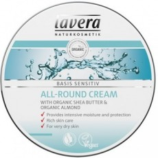 Crema hidratanta multifunctionala cu unt de shea Basis Sensitiv, 150ml - LAVERA