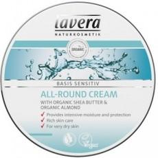 Crema hidratanta multifunctionala cu unt de shea Basis Sensitiv, 150ml - LAVERA