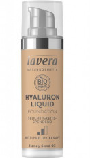 Fond de ten bio Hyaluron Liquid Honey Sand 03, 30ml - LAVERA