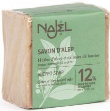 Sapun traditional de Alep cu 12% ulei de dafin, 185g - NAJEL