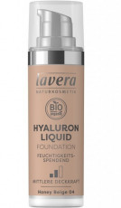 Fond de ten bio Hyaluron Liquid Honey Beige 04, 30ml - LAVERA