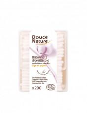 Betisoare de urechi cu bumbac organic 200buc - Douce Nature