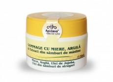 Gomaj natural cu miere, argilã şi extract din sâmburi de mãsline - Apidava