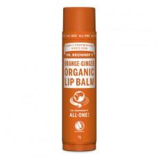Balsam de buze organic Portocala si Ghimbir 4 grame - Dr Bronner