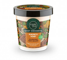 Mousse de corp delicios nutritiv Almond & Honey, 450 ml - Organic Shop Body Desserts