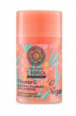 Pudra spumanta de curatare cu Vitamina C si acizi BHA, 35g - C-BERRICA