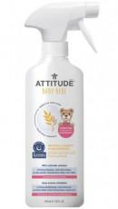 Solutie de indepartat petele pentru rufele copiilor, fara parfum, 475ml - ATTITUDE Sensitive