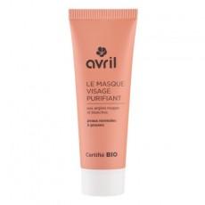 Masca purificatoare cu argila alba si rosie, 50ml - Avril
