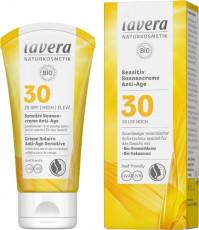 Crema bio antirid protectie solara FPS 30, piele sensibila, 50ml - LAVERA