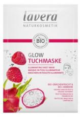 Masca iluminatoare Sheet Mask cu zmeura si fructul dragonului, BIO - LAVERA