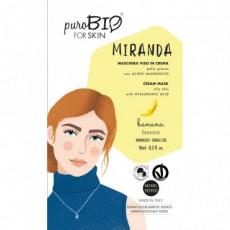 Masca crema ten gras MIRANDA banane, 10ml - PuroBio