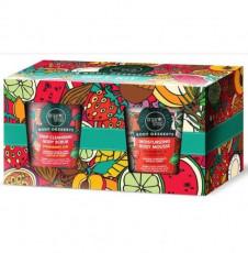 Set Cadou Body Desserts (scrub, mousse de corp cu capsuni) 450ml - Organic Shop