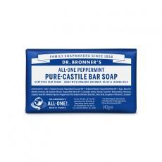 Sapun solid de Castilia, aroma Menta 140g - Dr Bronner