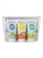 Travel Set Lemon Balm (sampon, gel de dus, lotiune de corp) - Benecos