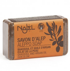 Sapun de Alep Najel Collection cu argila rosie si rhassoul - 100g Najel