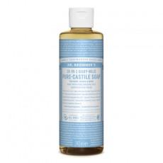 Sapun lichid de Castilia 18-in-1 Inodor, pentru bebelusi si piele sensibila 60/240/475/945ml Dr Bronner
