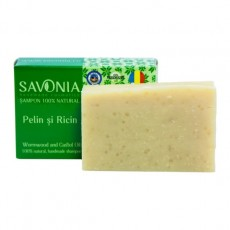 Sampon Solid Natural Pelin si Ricin - Savonia
