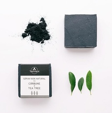 Sapun cu carbune si tea tree-Trio Verde