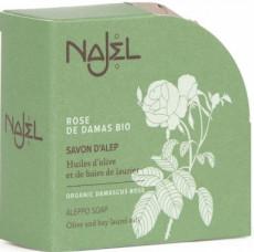 Sapun de Alep Najel cu trandafir de damasc 100g Najel