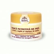 Masca naturala de fata cu miere, argila, laptisor de matca, ulei de jojoba, ulei din samburi de struguri, ulei de masline- Apidava