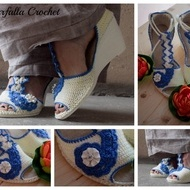 Crochet shoes, Crochet slippers, Spring-Summer-Autumn, Outdoor shoes, Sandals, Handmade shoes for women, Shoes for women