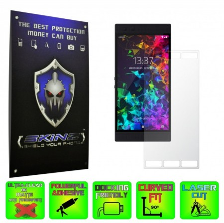 Razer Phone 2 - INVISIBLE SKINZ HD, Folie Protectie Ecran Ultra-Clear sau Mata Antiamprenta, Full Display Cover,Full Glue