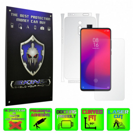 Xiaomi Mi 9T / 9T Pro - INVISIBLE SKINZ HD - SPLIT CUT, Folie Protectie Ultra-Clear sau Mata Antiamprenta, Full Body Cover (Ecran,Carcasa Spate,Laterale),Full Glue