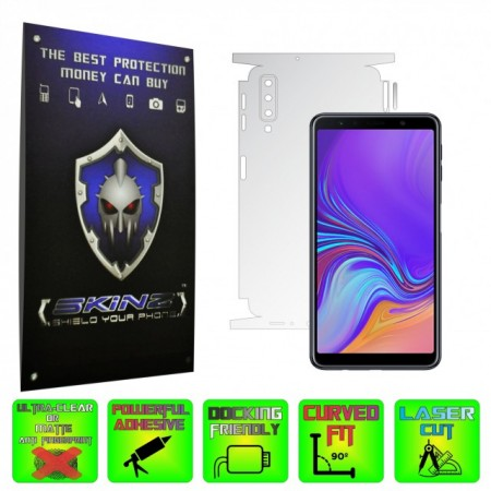 Samsung Galaxy A7 (2018) - INVISIBLE SKINZ HD 360° CUT, Folie Protectie Ultra-Clear sau Mata Antiamprenta pentru Carcasa, Full Case Cover (Carcasa Spate si Laterale),Full Glue