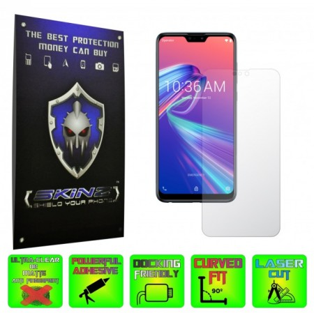 Asus Zenfone Max Pro (M2) - INVISIBLE SKINZ HD, Folie Protectie Ecran Ultra-Clear sau Mata Antiamprenta, Full Display Cover,Full Glue