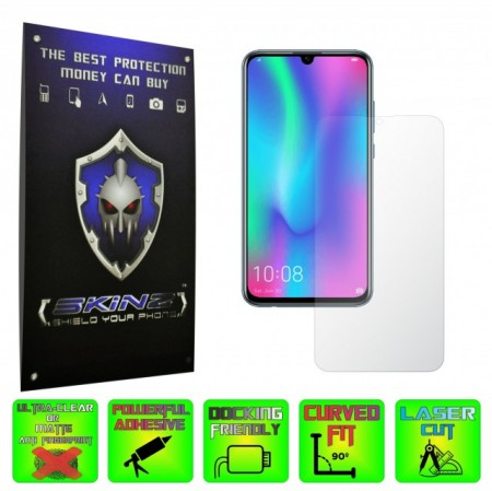 Huawei Honor 10 Lite - INVISIBLE SKINZ HD, Folie Protectie Ecran Ultra-Clear sau Mata Antiamprenta, Full Display Cover,Full Glue
