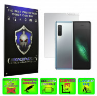 Samsung Galaxy Fold 1 - INVISIBLE SKINZ HD SIMPLE-CUT, Folie Protectie Ecran Interna Ultra-Clear sau Mata Antiamprenta, Full Display Cover,Full Glue