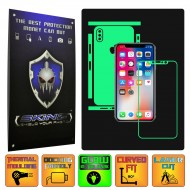 Apple iPhone X / 10 - Folie Fosforescenta GLOW SKINZ, Full Body Skin