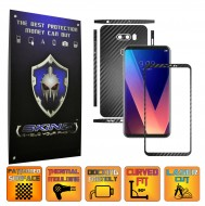 LG V30S ThinQ - Folie Full Body AutoAdeziva Carbon SKINZ , Textura 3D