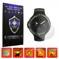 Mobvoi Ticwatch S - Folie INVISIBLE SKINZ UHD, Protectie de Ecran Ultra Clear AutoRegeneranta, Full Glue ( Set 2 Folii)
