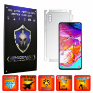 Samsung Galaxy A70 - INVISIBLE SKINZ UHD AutoRegeneranta - SPLIT CUT, Folie Protectie Ultra-Clear pentru Carcasa, Full Case Cover (Carcasa Spate si Laterale),Full Glue