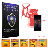 Asus ROG Phone 2 II - Folie Protectie Full Body CARBON SKINZ, Skin Adeziv CARBON ROSU - SPLIT CUT