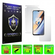 OnePlus 6T - INVISIBLE SKINZ HD - SPLIT CUT, Folie Protectie Ultra-Clear sau Mata Antiamprenta, Full Body Cover (Ecran,Carcasa Spate,Laterale),Full Glue