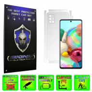 Samsung Galaxy A51 - INVISIBLE SKINZ HD - SPLIT CUT, Folie Protectie Ultra-Clear sau Mata Antiamprenta pentru Carcasa, Full Case Cover (Carcasa Spate si Laterale),Full Glue