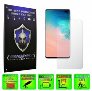 Samsung Galaxy S10+ Plus - INVISIBLE SKINZ HD, Folie Protectie Ecran Ultra-Clear sau Mata Antiamprenta, Full Display Cover,Full Glue