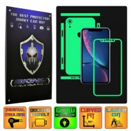 Apple iPhone XR - GLOW SKINZ - SPLIT CUT, Folie Protectie Fosforescenta Full Body Cover, Skin Adeziv pentru Telefon (Rama Ecran,Carcasa Spate,Laterale),Full Glue