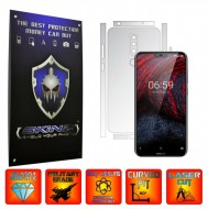 Nokia 6.1 Plus (X6) - INVISIBLE SKINZ UHD AutoRegeneranta - SPLIT CUT, Folie Protectie Ultra-Clear pentru Carcasa, Full Case Cover (Carcasa Spate si Laterale),Full Glue