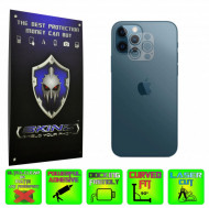 Apple iPhone 12 Pro Max - Set 4x Folie Protectie Camera INVISIBLE SKINZ HD Ultra-Clear sau Mata Antiamprenta, Full Glue