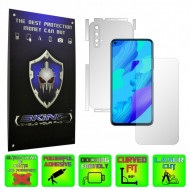 Huawei Nova 5T - INVISIBLE SKINZ HD - SPLIT CUT, Folie Protectie Ultra-Clear sau Mata Antiamprenta, Full Body Cover (Ecran,Carcasa Spate,Laterale),Full Glue