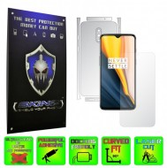 OnePlus 7 - INVISIBLE SKINZ HD - SPLIT CUT, Folie Protectie Ultra-Clear sau Mata Antiamprenta, Full Body Cover (Ecran,Carcasa Spate,Laterale),Full Glue