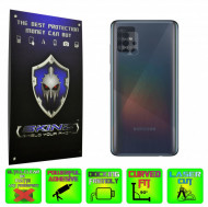 Samsung Galaxy A71 - Set 2x Folie Protectie Camera INVISIBLE SKINZ HD Ultra-Clear sau Mata Antiamprenta, Full Glue