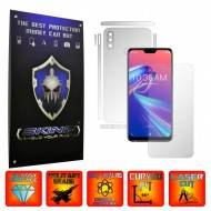 Asus Zenfone Max Pro (M2) - INVISIBLE SKINZ UHD AutoRegeneranta - SPLIT CUT, Folie Protectie Ultra-Clear Full Body Cover (Ecran,Carcasa Spate,Laterale),Full Glue
