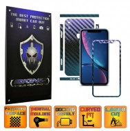 Apple iPhone XR - CARBON CAMELEON - SPLIT CUT, Folie Protectie CARBON SKINZ Full Body Cover, Skin Adeziv pentru Telefon (Rama Ecran,Carcasa Spate,Laterale),Full Glue